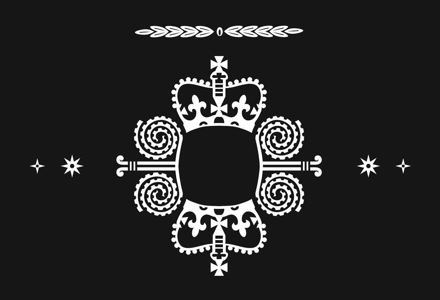 A Māori flag design idea with British Crown and Māori symbols, designed by Desna Whaanga-Schollum